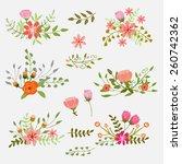 wedding invitation card   Shutterstock .eps vector #260742362