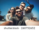 multiracial group of young... | Shutterstock . vector #260752652