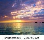 rock sunset evening  | Shutterstock . vector #260760125