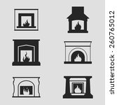 set of icons on a theme...   Shutterstock .eps vector #260765012