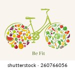 healthy lifestyle infographic.... | Shutterstock .eps vector #260766056