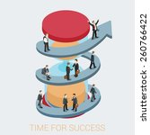 time for success flat 3d web... | Shutterstock .eps vector #260766422