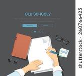 mockup modern flat design... | Shutterstock .eps vector #260766425