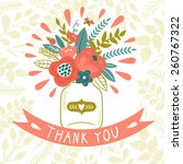 vector card with beautiful... | Shutterstock .eps vector #260767322