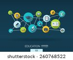 education network. growth... | Shutterstock .eps vector #260768522