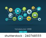 technology network. growth... | Shutterstock .eps vector #260768555