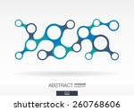 abstract background with... | Shutterstock .eps vector #260768606