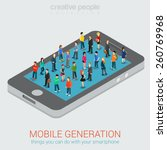 mobile generation template with ... | Shutterstock .eps vector #260769968