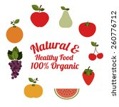 natural food design  vector... | Shutterstock .eps vector #260776712