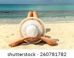 woman relaxing on a tropical... | Shutterstock . vector #260781782