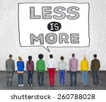 less is more minimal simplicity ... | Shutterstock . vector #260788028