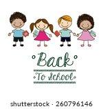 back to school design  vector... | Shutterstock .eps vector #260796146