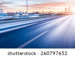 car driving on freeway at... | Shutterstock . vector #260797652