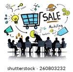 sale sales selling finance...   Shutterstock . vector #260803232