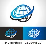 swoosh world logo icon with... | Shutterstock .eps vector #260804522