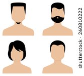 a set of abstract profiles of... | Shutterstock .eps vector #260810222