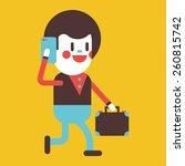 character illustration design.... | Shutterstock .eps vector #260815742