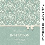 vintage card with damask... | Shutterstock .eps vector #260817542