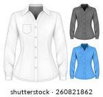 formal long sleeved blouses for ... | Shutterstock .eps vector #260821862
