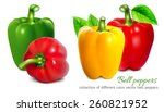 bell peppers. collection of... | Shutterstock .eps vector #260821952