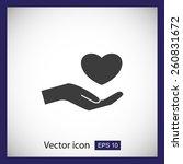 heart in hand | Shutterstock .eps vector #260831672