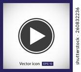 play button web icon | Shutterstock .eps vector #260832236