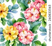 floral pattern. vector seamless ... | Shutterstock .eps vector #260833565