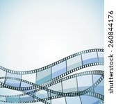 blue cinema background with... | Shutterstock .eps vector #260844176
