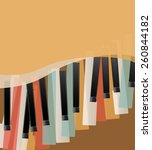 Piano Keys Retro Orange...