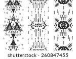 vector geometric background ... | Shutterstock .eps vector #260847455