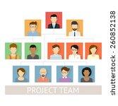 illustration of project team... | Shutterstock . vector #260852138