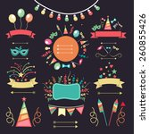 set of different party...   Shutterstock .eps vector #260855426