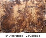 grunge texture  from very old leather cover - stock photo