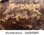 high contrast grunge texture  from very old leather cover - stock photo