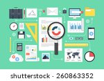 data analysis  research ... | Shutterstock .eps vector #260863352