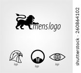 series logo mens serious... | Shutterstock .eps vector #260864102