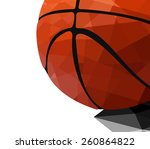 basketball abstracts vector | Shutterstock .eps vector #260864822