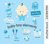 baby boy elements set | Shutterstock .eps vector #26086984