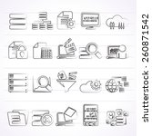 data and analytics icons  ... | Shutterstock .eps vector #260871542