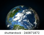 the earth from space showing...   Shutterstock . vector #260871872