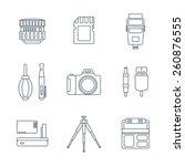 vector grey outline various...   Shutterstock .eps vector #260876555