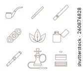 vector grey outline various... | Shutterstock .eps vector #260876828