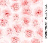 Stock photo plenty pink natural roses seamless background nostalgic roses endless pattern 260879666
