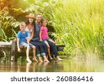 in summertime  portrait of an... | Shutterstock . vector #260886416