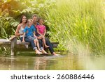 in summertime  portrait of an... | Shutterstock . vector #260886446