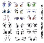 the complete set of the drawn... | Shutterstock . vector #260889845