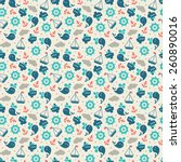 baby sea seamless pattern.... | Shutterstock .eps vector #260890016