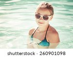 beautiful little blond girl... | Shutterstock . vector #260901098
