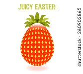 easter egg in the form of juicy ... | Shutterstock .eps vector #260902865