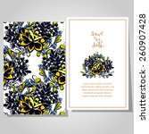 wedding invitation cards with... | Shutterstock .eps vector #260907428